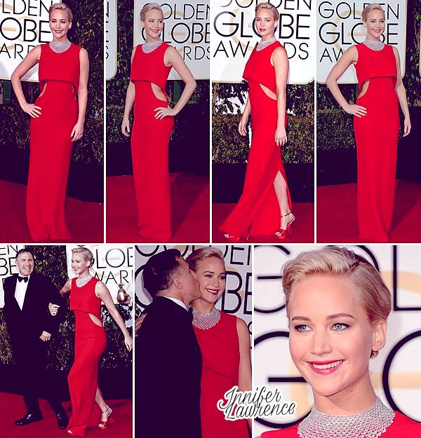 10/01/2016 : Jennifer s'est rendue à la 73e cérémonie des Golden Globes à l'hôtel Beverly Hilton (LA) : Jennifer a remporté le Golden Globes de la Meilleure Actrice dans un film comédie/musical pour son rôle dans Joy. Félicitations à elle ! ♥