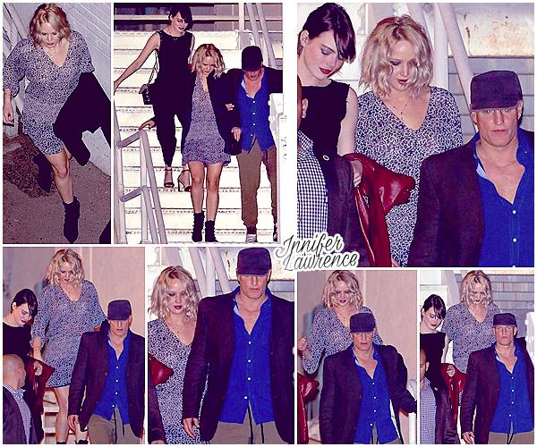 12/02/2016 : Jennifer L. s'est rendue au concert de son amie Adèle dans la salle «The Wiltern» (LA) :  JLaw était accompagnée de ses amis Emma Stone et Woody Harrelson. Visionnez une vidéo du groupe qui a l'air de passer un très bon moment ;)
