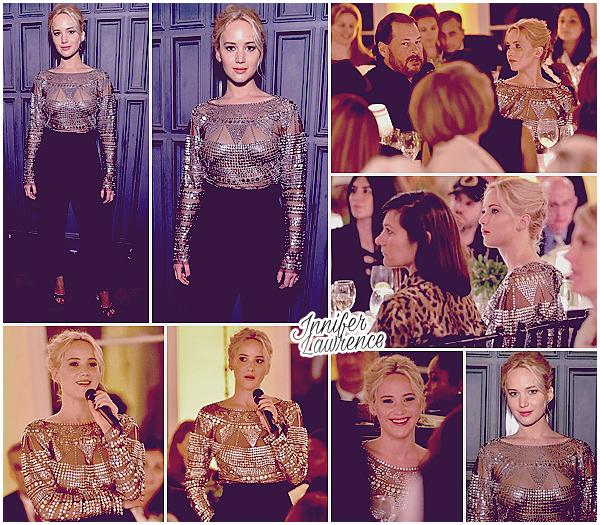 25/02/2016 : Jennifer a assisté à la soirée «The Dinner for Equality» à Beverly Hills (LA) :  Premier événement Pre-Oscar pour miss Lawrence qui a participé au dîner organisé par l'actrice Patricia Arquette (Médium).