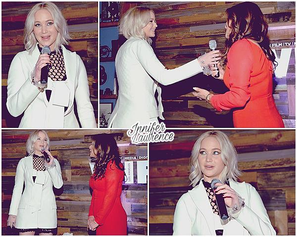 26/02/2016 : Jennifer a assisté à l'événement «Women in Film Pre-Oscar Cocktail Party» (LA) :  La soirée était au restaurant Hyde Sunset Kitchen+Cocktails dans West Hollywood. Peu de photos, mais J. a donné un cours discours.