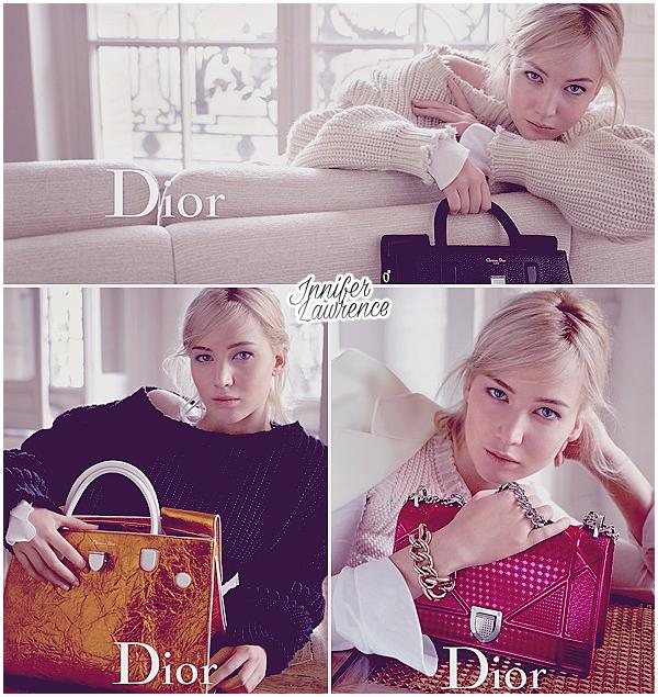 DIOR : Découvrez de nouveaux clichés de Jennifer pour la maison française Dior :  Les clichés sont pour les nouvelles campagnes de pub des sacs à mains ainsi que du gloss «Shine don't be Shy».