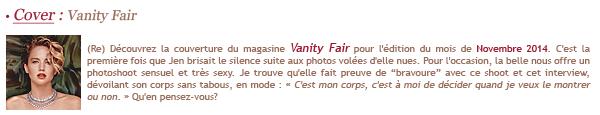 FLASH- Vanity Fair 2014