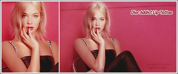 - • DIOR ⅠDécouvrez 02 nouvelles photos promotionnelles de Jennifer pour la campagne de rouge à lèvres  «Dior Addict»  Je vous joins aussi une vidéo Behind The Scene de la belle, lors de sa séance photo pour la collection Automne/Hiver 2017 de la marque. Top !