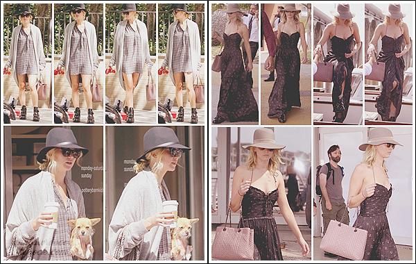 - • 02.09.17 l Jennifer Lawrence a été vue en promenade avec son chien Pippi dans les rues de  « New-York City » (US) : La pauvre bête a l'air au bout de sa vie ... Plus tard, et avec un changement de tenue, elle était à l'arrivée à Venice pour le festival du film. Deux tops !