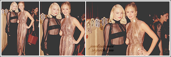 - • 13.09.17 l Jennifer Lawrence était présente à l'avant-première de son prochain film  « Mother! » à New-York (US) : Elle était avec sa co-star Javier Bardem et Darren Aronofsky. Sa robe Dior, digne d'une princesse, est sublime ! J'aime aussi la mise en beauté, un top !