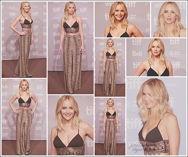 - • 10.09.17 l Jennifer Lawrence était au photocall du film  « Mother ! » pendant le festival du film de Toronto (CAN) : Comme prévu Jen continue maintenant sa tournée de promotion en Amérique. Elle portait un ensemble Sally LaPointe que j'aime beaucoup, un top !