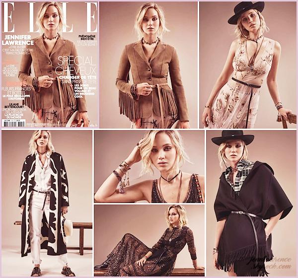 - • COUVERTURE l Jennifer Lawrence est en couverture du magasine français « Elle » pour le mois de Septembre 2017 : Un photoshoot entièrement signé Dior; avec une ambiance quelque peu cowgirl. De plus, Jen a atterri à Paris le 27 septembre dernier. F-W en vue ?