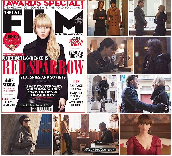- • Découvrez les dernières nouveautés concernant le prochain film de Jen « Red Sparrow »  :