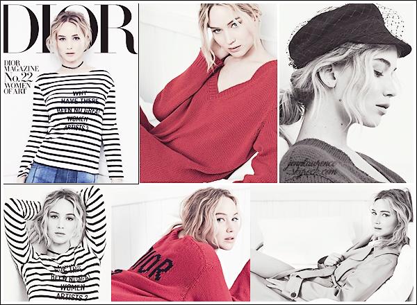 - • Jennifer Lawrence pose pour le nouveau magasine « Dior »  issue N°22 pour ▬ février 2018 : → Il s'agit d'un shoot tiré de la collection Printemps/Été 2018 ! Je pense donc que d'autres clichés officiels devraient sortir. ___________