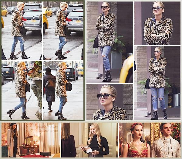 - • 23.02.18 l A deux reprises Jennifer Lawrence a été vue devant son hôtel le « Ritz-Carlton » dans New-York (US) : La belle est donc bien arrivée dans la grosse pomme pour la suite de la promo de son film ! Je vous joins aussi 03 nouveaux stills pour Red Sparrow.