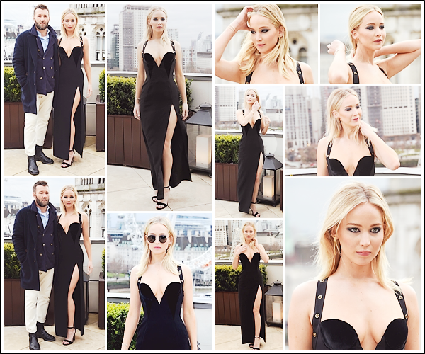 - • 20.02.18 l  Jennifer Lawrence assistait au photocall de son prochain film « Red Sparrow » organisé à Londres (UK) : Nouvelle journée de promotion pour la belle qui était avec sa co-star Joel Edgerton. Beau top pour sa robe Versace, j'aime beaucoup l'ouverture ! Avis ?