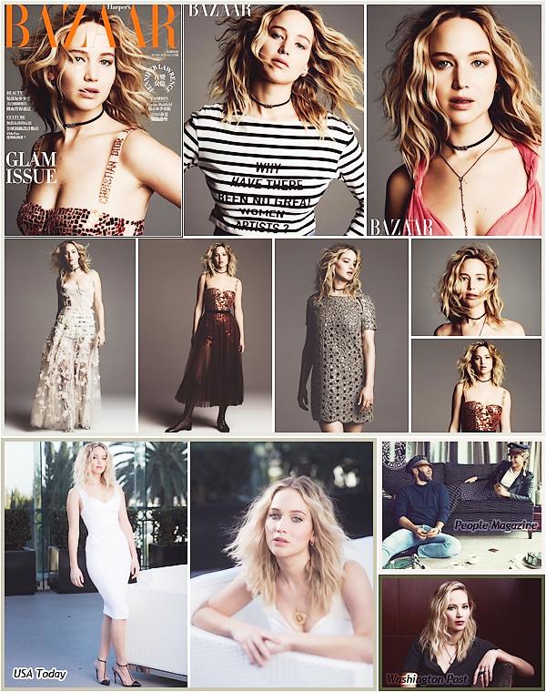 - • Jennifer pose en Dior pour le magasine « Harper's Bazaar Taiwan »  édition ▬ mars 2018 : → Je vous joins aussi 04 nouveaux clichés de la belle pour 03 sources différentes._____________