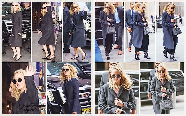 """- • 26.02.18 l Jennifer Lawrence a été vue allant à l'émission """"The Late Show with Stephen Colbert"""" à NY (US) : Pour une fois, c'est un candid souriant et guilleret que nous avons. Beau top! _ (+) Elle a aussi été vue plus tôt dans les rues de la grosse pomme."""