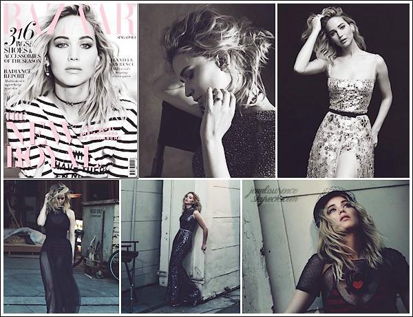 - • Jennifer pose en Dior pour le magasine « Harper's Bazaar Singapour »  édition ▬ avril 2018 :