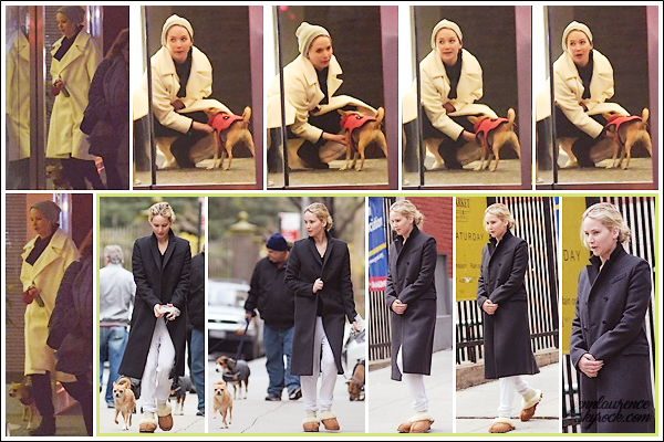 - • 06.04.18 l Jennifer Lawrence a été vue avec son petit chien Pippi dans les rues de la ville de « New-York » (NY) : Ballade pour Jen et son chien qui sont toujours dans la grosse pomme. - (+) Le 03.04, elle a aussi été aperçue dans les rues de la ville avec Pippi.