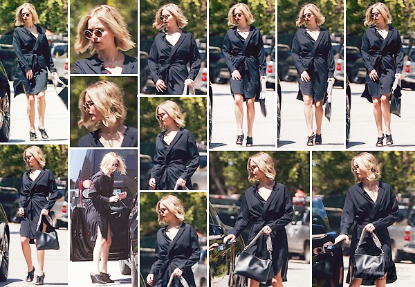 - • 03.05.18 l Jennifer Lawrence a été aperçue dans les rues de « Century City » dans Los Angeles en Californie (US) : De retour chez elle à Los Angeles, la belle était à un déjeuner professionnel avant de retourner à sa voiture. Très élégante, un beau top pour sa tenue !