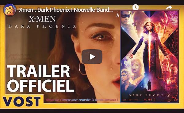 - • Découvrez la nouvelle bande-annonce et le poster promotionnel pour le film « X-Men: Dark Phoenix » : Sortie française le 05 juin. SPOILER : Bien qu'évident dans la BA, Simon Kinberg a bien confirmé la mort de Mystique dans ce nouvel opus de la saga ..