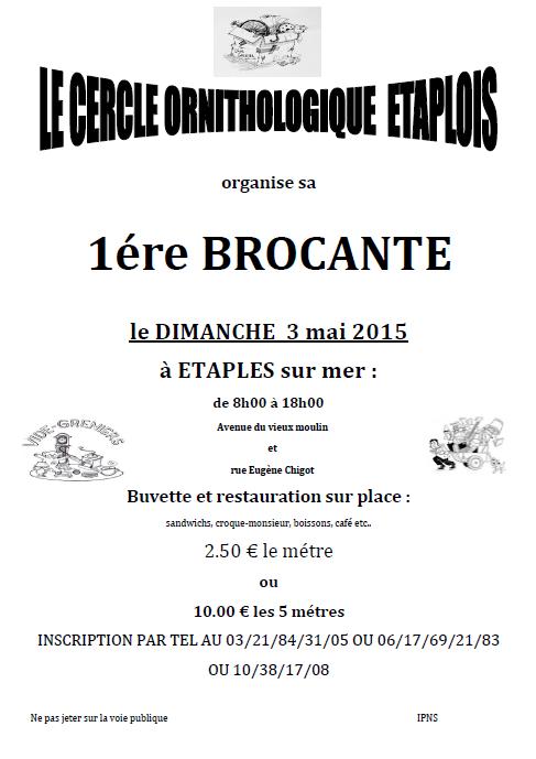 BROCANTE DU CLUB C . O . E