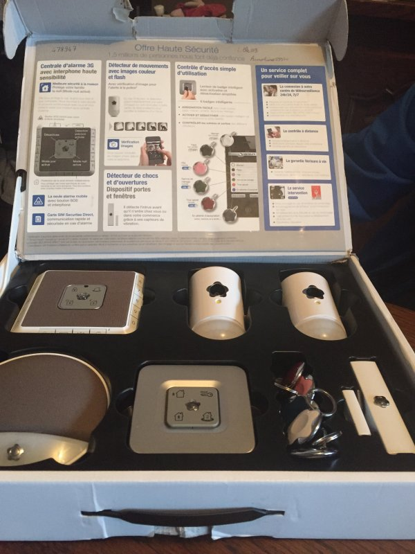 Installation de caméras fait par la Securitas