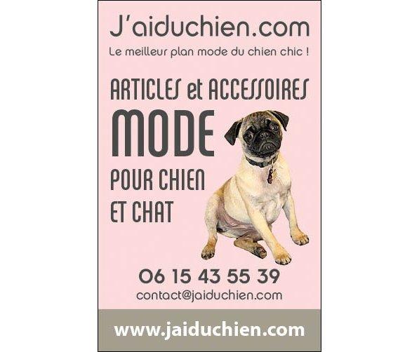 Jaiduchien.com. Boutique mode pour chien et chat chics !