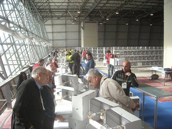 Keuring Wedstrijdvogels C.O.M. Wereldkampioenschappen Almeria (Esp.) 3