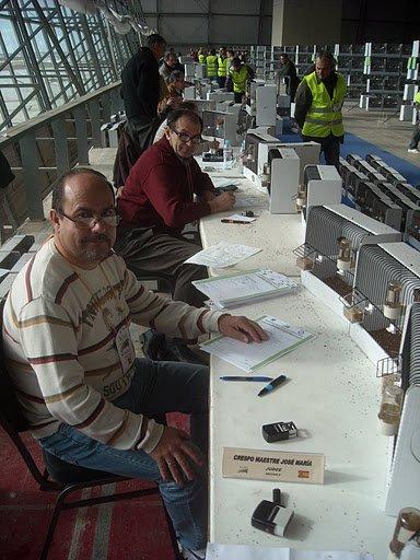 Keuring Wedstrijdvogels C.O.M. Wereldkampioenschappen Almeria (Esp.) 2
