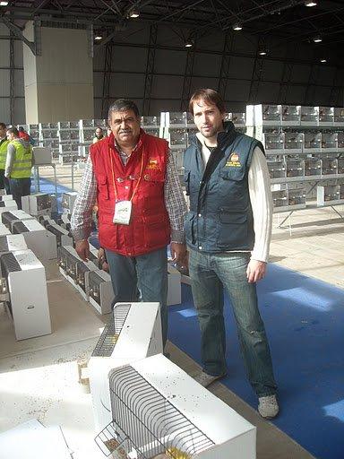 Keuring Wedstrijdvogels C.O.M. Wereldkampioenschappen Almeria (Esp.) 1