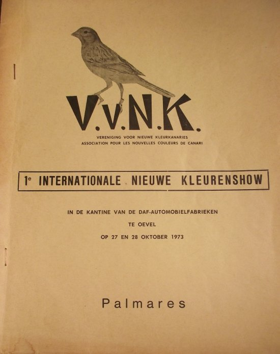 1ste Katalogus Internationale Kleurkanarieshow V.v.N.K. 1973 (585 vogels)
