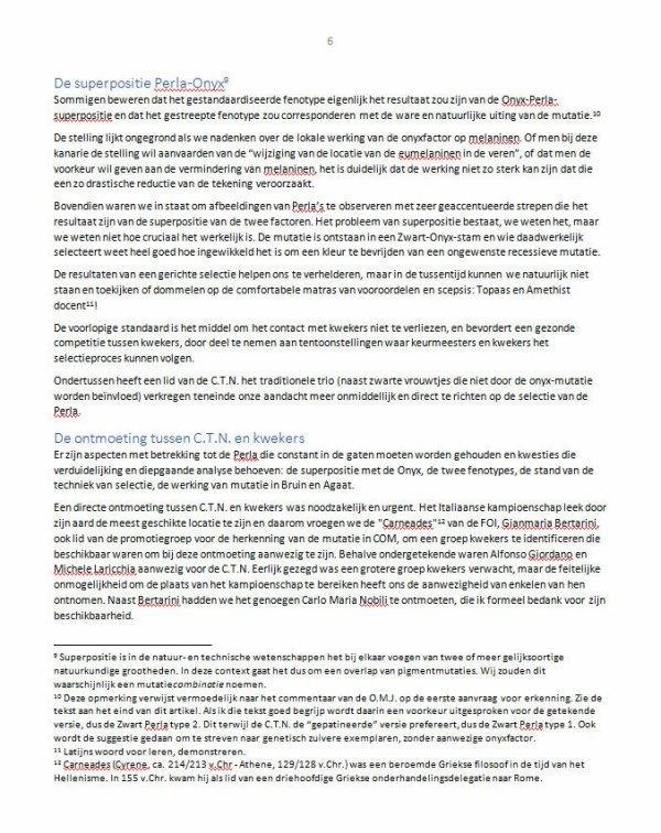 'Mutazione Perla: facciamo il punto della situazione' > Vertaling door Antoon Tijhuis   (Bron : Italia Ornitologica N°3 - 2020)
