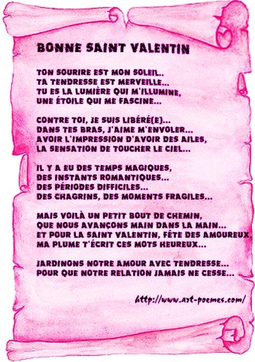 poème de la saint valentin