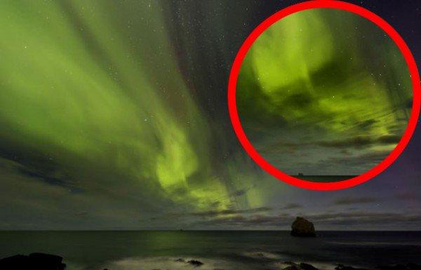 Extraterrestre et aurore boréale !