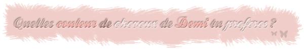 -Demi Lovato. _____________________________  Sommaire • Création • Décoration  •  Newsletter Rubrique :Divers. __________________________________ (c) PearlCandy