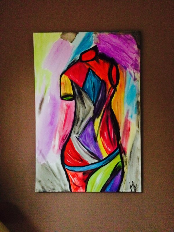 Buste acrylique
