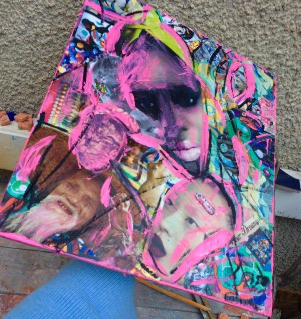 Collage &peinture
