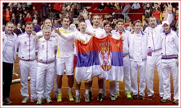 Coupe Davis Belgique 2-3 Serbie