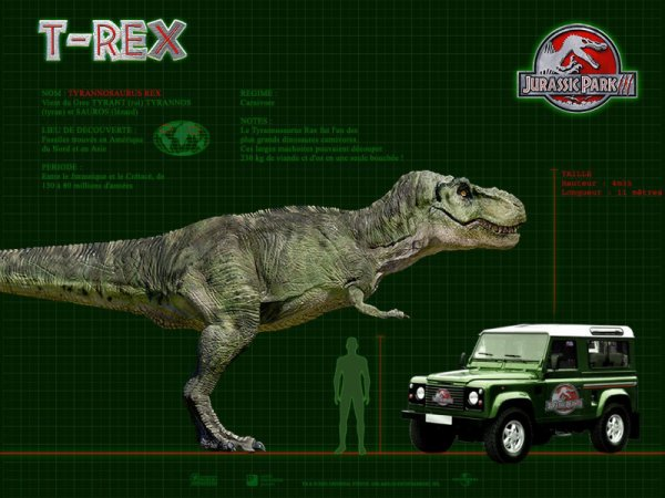Wallpaper Jurassic Park 3 : Le Tyrannosaurus Rex