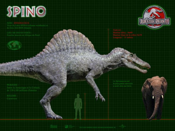 Wallpaper Jurassic Park 3 : Le Spinosaurus