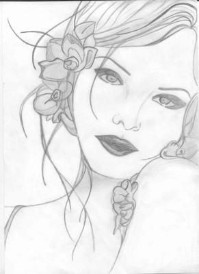 Fille mes dessins - Dessin profil ...