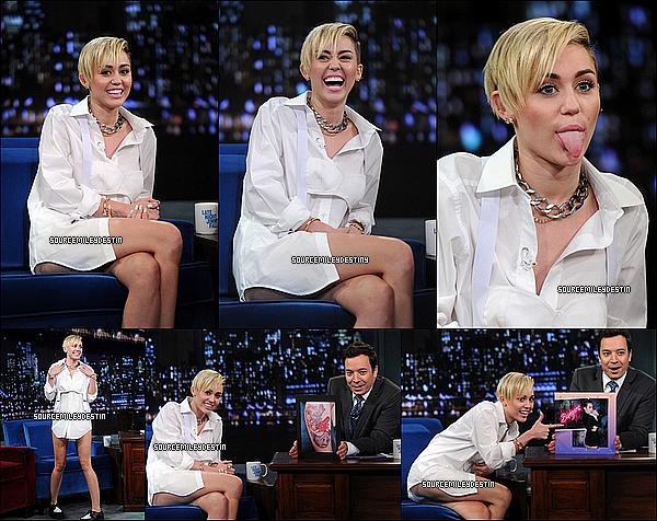 08/10/2013: Miley était aJIMMY FALLON LIVE,pour la promo de Bangerz.