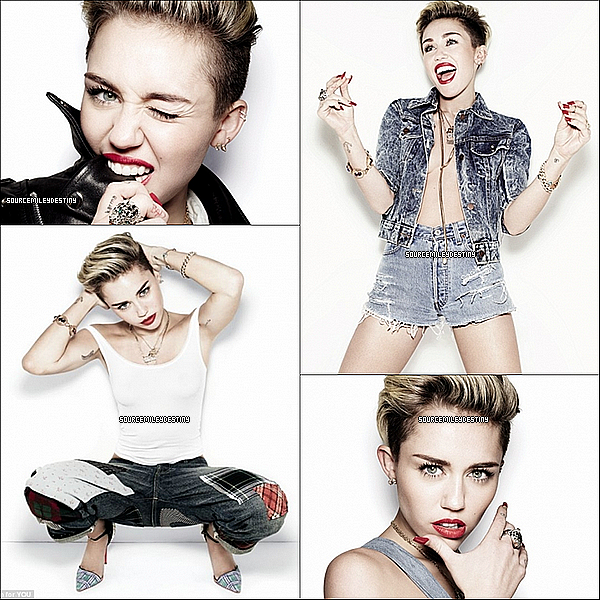 Nouveau photoshoot de Miley pour YOU MAGAZINE & VIJAT MOHINDRA.
