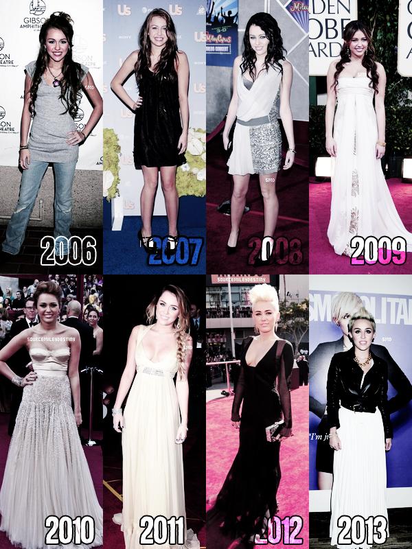 L'évolution de Miss Cyrus. Elle a grandit, elle est toujours aussi belle! Vos avis?