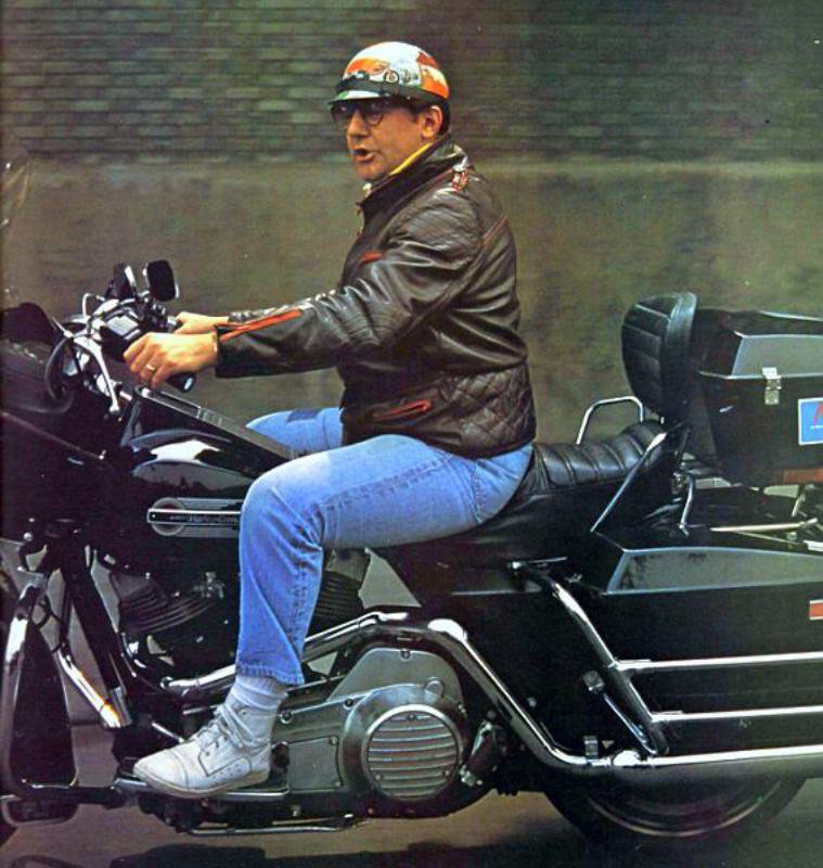 Il roulait même en Harley...