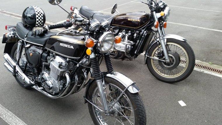 Honda: GL 1000 de 1976 et 750 Four de 1975, parfaitement restaurée....