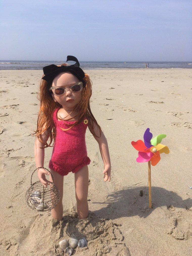 Marlene à la plage