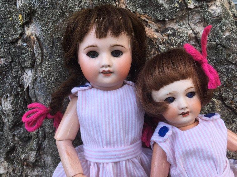 Bleuette et Rositta assorties