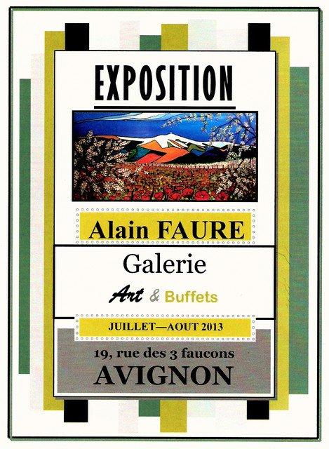 EXPOSITION Alain FAURE à AVIGNON
