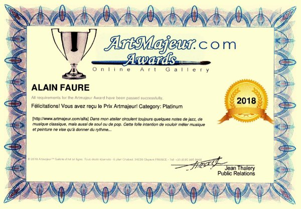 AWARDS ARTMAJEUR 2018