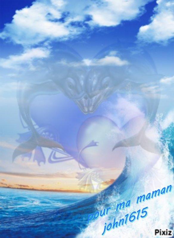 ♫♫♥♫♫ cadeau reçu de mon petit d'ange john1615 que je t'adore il sont magnifique ces créa que tu a fait avec les dauphin tu c se que maman aime gros gros bisous ♫♫♥♫♫