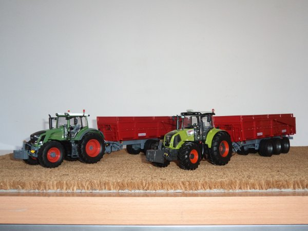 Claas AXION 850 et Fendt 828 Vario 2