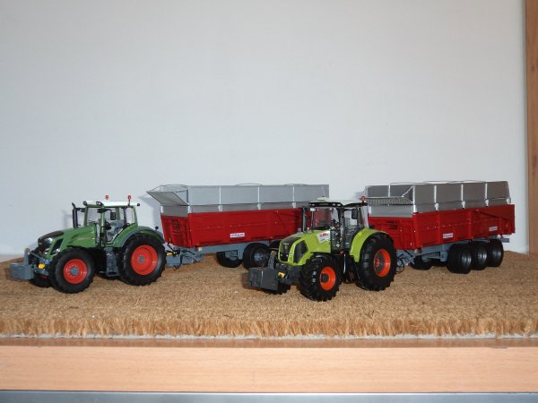 Claas AXION 850 et Fendt 828 Vario 3